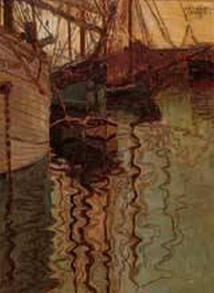 Harbor of Trieste 1907